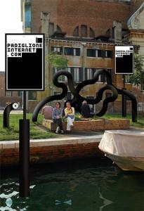 Visuel de M/M pour le Padiglione Internet de Miltos Manetas